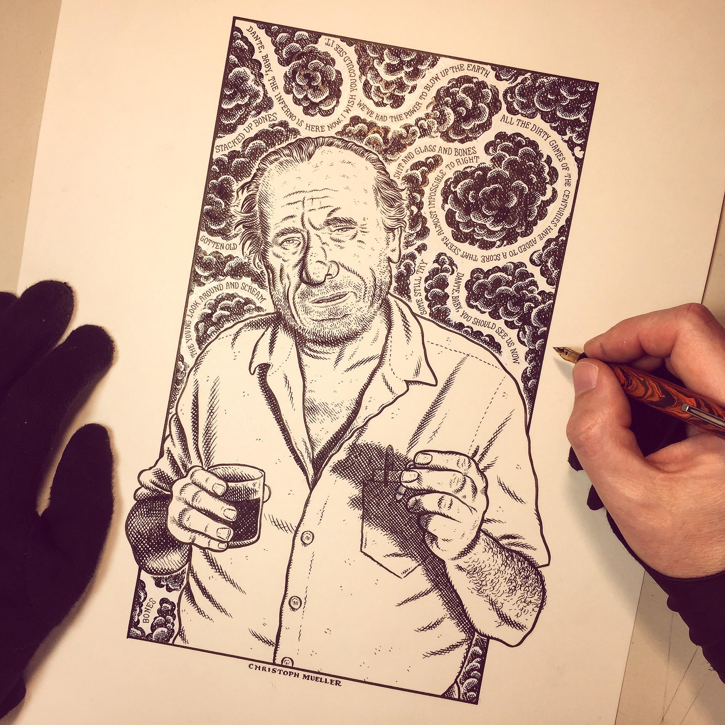 Charles Bukowski by Christoph Mueller