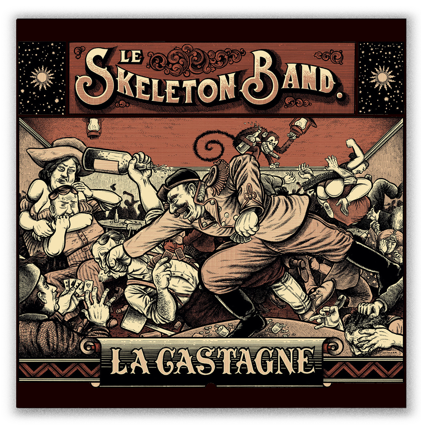 Le Skeleton Band La Castagne artwork by Christoph Mueller