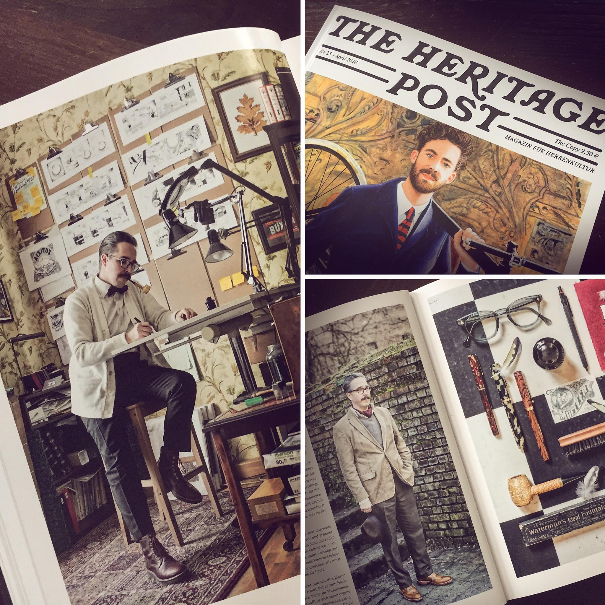 The Heritage Post featuring artist Christoph Mueller